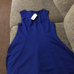 Royal blue short dress